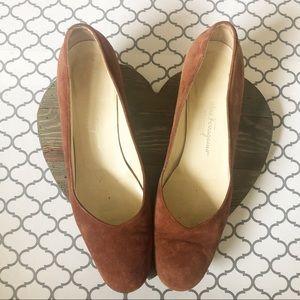 Ferragamo Brown Suede Dress Shoes (9 AA)
